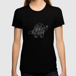 Stegosaurus Dinosaur (A.K.A Armored Lizard) Butcher Meat Diagram T-shirt