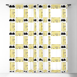 Modern Texture Plaid Blackout Curtain