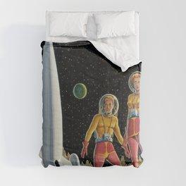 Retro Space Voyage, Exoplanet, Science Fiction, Fantasy  Comforters