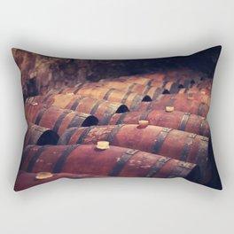 Italy wine barrels Rectangular Pillow