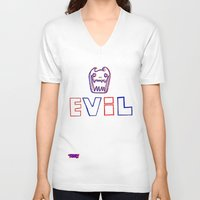 evil V-neck T-shirts featuring Evil. by The Fort by The Smoking Roses!
