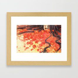 Beneath the Red Flowers Framed Art Print