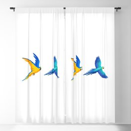 Two Parrots Flying Blackout Curtain
