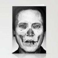 christopher walken Stationery Cards featuring CHRISTOPHER WALKEN SKULL by Maioriz Home