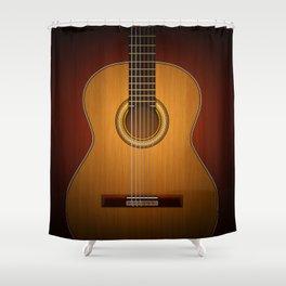 Classic Guitar Shower Curtain