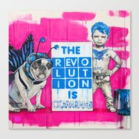 revolution Canvas Prints featuring Revolution by Richard Carrie