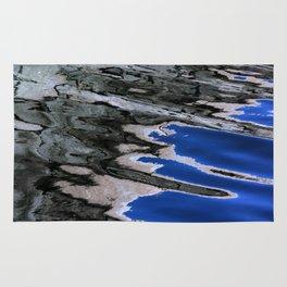 grey abstract water reflection Rug