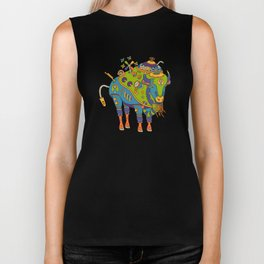 Bison, cool wall art for kids and adults alike Biker Tank