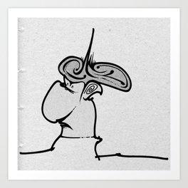Puffy Dude Art Print