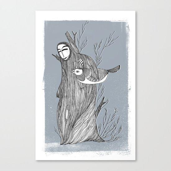 Drzewiec zimowy Canvas Print