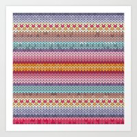 knitting pattern Art Print