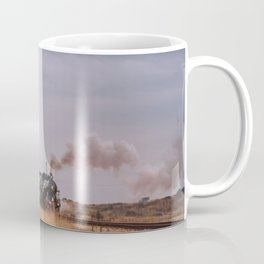 lighthouse and train in dungeness Coffee Mug