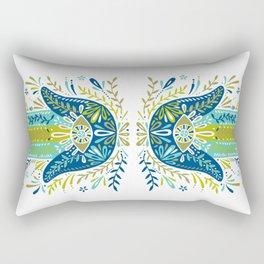Hamsa Hand – Lime, Turquoise & Navy Palette Rectangular Pillow