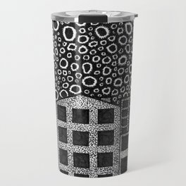 Artisan Artwork 1: Noughts and Dots... Travel Mug