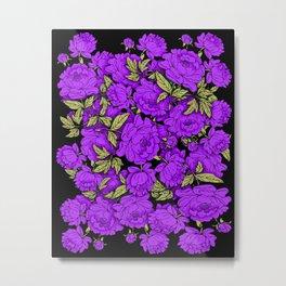 Purple Peonies Metal Print