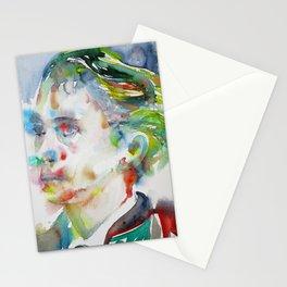 LEOPOLD VON SACHER-MASOCH - watercolor portrait Stationery Cards