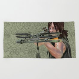 Daryl Dixon from The Walking Dead Beach Towel