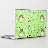 ghibli Laptop & iPad Skins featuring Ghibli pattern by Sophie Eves