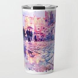 Dublin Watercolor Streetscape Travel Mug