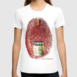 Vintage Cordial Campari Aperitif Thumb Print Advertising Poster T-shirt