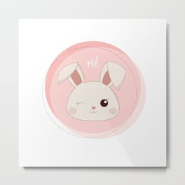 Sweet rabbit Metal Print