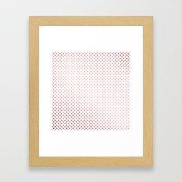 Simply Crosses in Rose Gold Sunset Framed Art Print