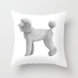 Poodle - standard - abricot Throw Pillow