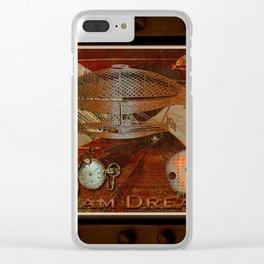 Steam Dreams - Steampunk Theme Clear iPhone Case