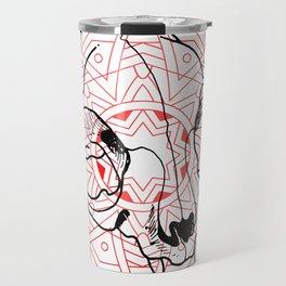 CAT SKULL & MANDALA Travel Mug