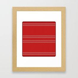 Chritmas Sweater Framed Art Print