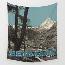 Vintage poster - Zermatt Wall Tapestry