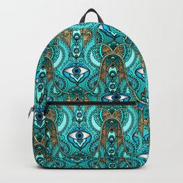Hamsa Hand -Hand of Fatima Pattern Backpack