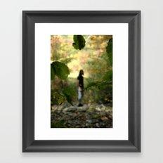 Stranger in the Shadows. Framed Art Print