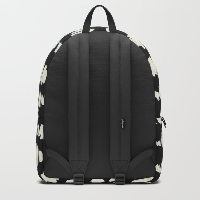 Tribal Song Cream on Black Backpack