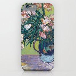 Vincent Van Gogh - Majolica Jar with Branches of Oleander iPhone Case
