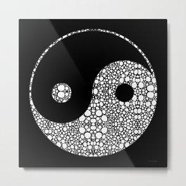 Perfect Balance 2 - Yin and Yang Stone Rock'd Art by Sharon Cummings Metal Print