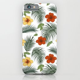 Tropical plants and flowers iPhone Case