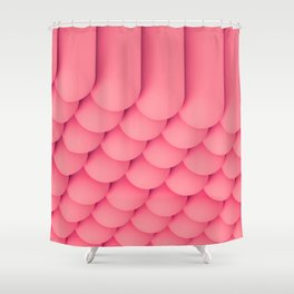Pink Tubes Shower Curtain