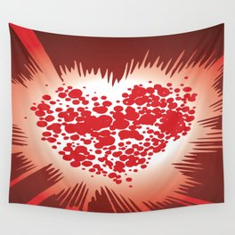 Kirby Krackle - Krackle Heart Logo Wall Tapestry