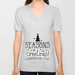 Seasons Greetings Unisex V-Neck