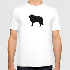 Big Black Dog White SMALL Mens Fitted Tee