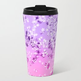 Pink Purple Glitter Stars #1 #shiny #decor #art #society6 Travel Mug