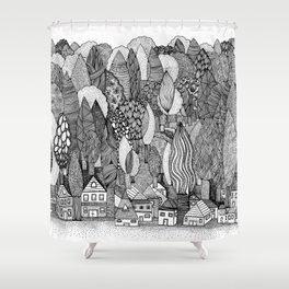 Mysterious Village Shower Curtain