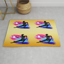 Martial arts, karate, yoga, aikido, judo, athlete Rug