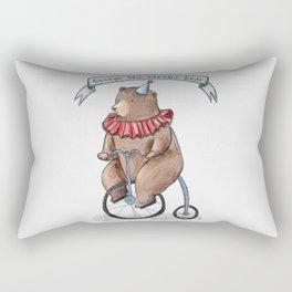George the circus bear Rectangular Pillow