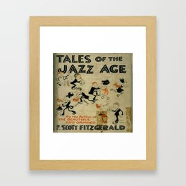 Tales of the Jazz Age vintage book cover - Fitzgerald Framed Art Print