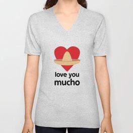 Love You Mucho Unisex V-Neck
