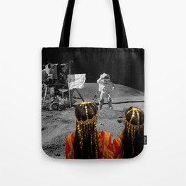 Rgaya and Sabeecha go to the moon Tote Bag