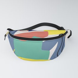 Maximalist figure abstract colorful Fanny Pack