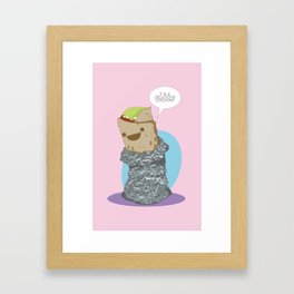 Delicious Cocoon Framed Art Print
